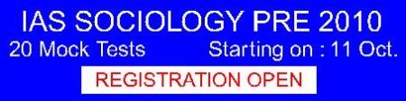 SOCIOLOGY - 20 Mock Test Prog