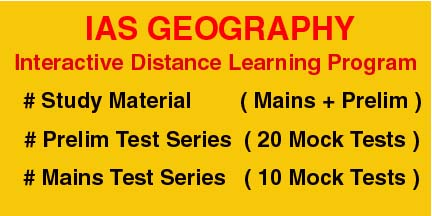 IAS Geography Interactive Distance Learning Programme