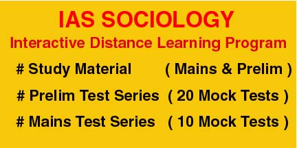 Sociology  Interactive Distance Learning Programme