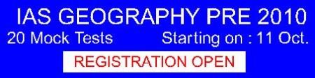 GEOGRAPHY  - 20 Mock Test Prog