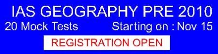 GEOGRAPHY  - 20 Mock Test Prog - Plan Nov