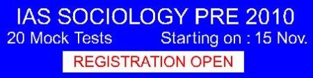 SOCIOLOGY - 20 Mock Test Prog - Plan Nov